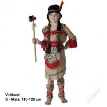 Dětský karnevalový kostým INDIÁNKA NŠOČI 120 - 130cm ( 5 - 9 let )